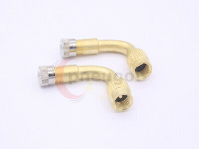 2 Pneugo!® Valve Extension Bent 90 Degrees Brass