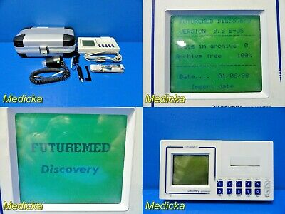 Future Med Discovery Spirometer C09020-02-99 W/ Volume Transducer & Case ~18069