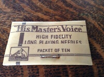 Vintage HMV  'His Master's Voice' Gramophone Needle Packet Sealed C. 1920'S/30'S