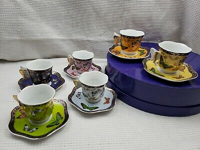 Set of 6 Classic Coffee & Tea Butterfly Espresso/Demitasse Set NEW #CC104