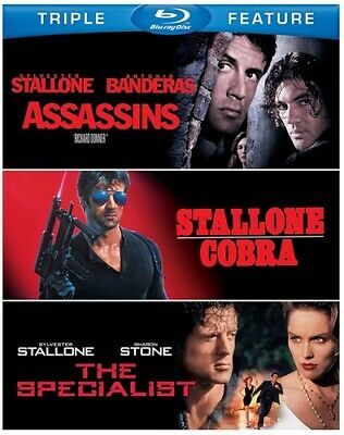 ASSASSINS + COBRA + THE SPECIALIST New Blu-ray Triple Feature Sylvester Stallone