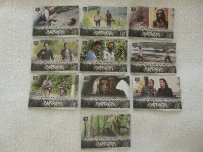 Walking Dead Hunters &The Hunted Partners 10 Chase Cards Walmart Exclusive
