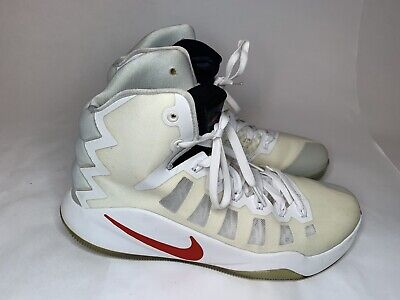 09eccc6d93a2 Nike Zoom Air Hyperdunk Flywire Basketball Shoes White Red Mens Size Us 11.5