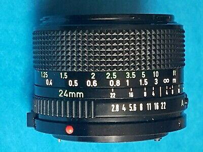 Canon FD 24mm f2.8 wide angle lense, excellent condition