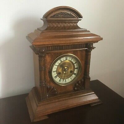Antique oetzmann & co large mantle clock fully working