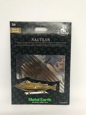 Disney Parks Nautilus Colored Metal Earth Model Kit 3D New