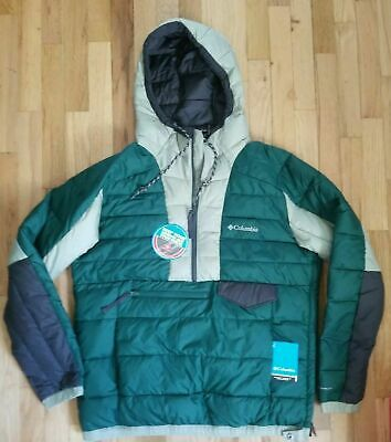 NWT COLUMBIA NORWESTER ANORAK OMNI HEAT GREEN JACKET MEN'S Small Large S L $150