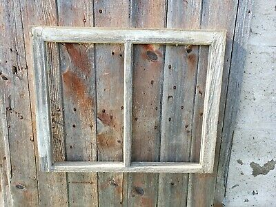 VINTAGE ANTIQUE FARMHOUSE WOOD SASH WINDOW DOUBLE PANE CRAFTS NO GLASS 29x23