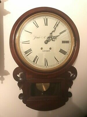 Antique James a Mackey wall clock fully working