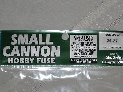 (1) Cannon Fuse Labels Small Hobby Firework Fuse 2mm Label +