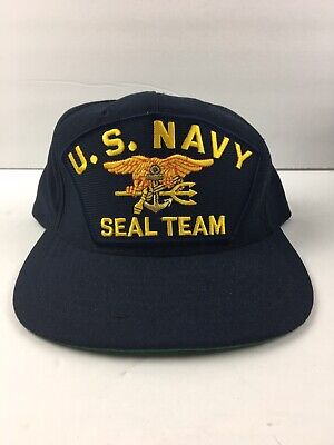 62272201 U.S. NAVY SEAL TEAM Military Cap Hat Adjustable Made In USA By Eagle Crest  New