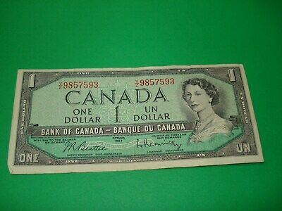 1954 - Canada - $1 note - Canadian one dollar - VZ9857593