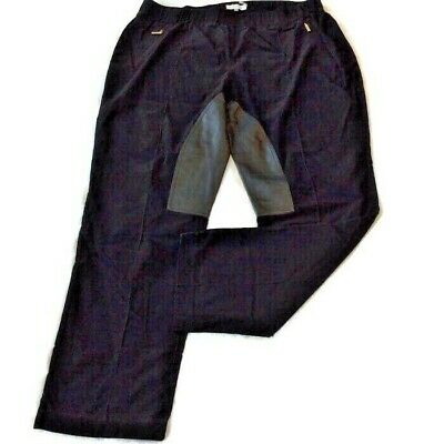 Calvin Klein Corduroy Pants Size 18W Black Pull On Elastic Pleather Leg Fall 1x