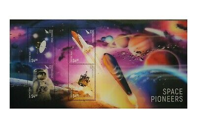 New Zealand 2019 Space Pioneers 3D Lenticular Stamp Miniature Sheet Mint MUH