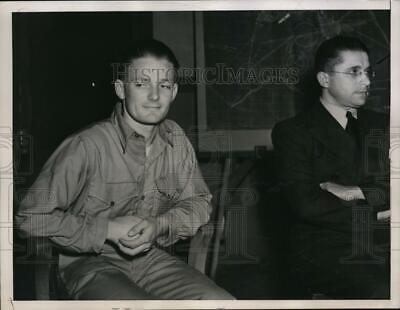 1937 Press Photo Severin Klein Pictured as he Testified on the Disaster