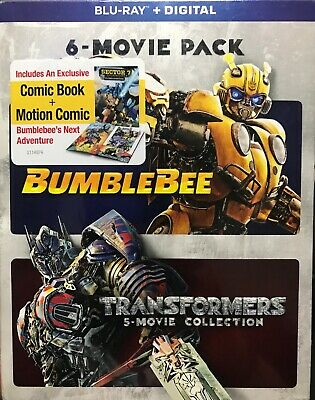 TRANSFORMERS 5-MOVIE COLLECTION Blu-Ray No Digital/Slip Like