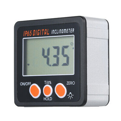Digital Inclinometer Spirit Level Box Protractor Angle Finder Gauge Meter L4H3