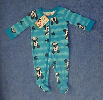 Baby Boys Blue Disney MICKEY MOUSE Coverall Size 000 or 00 BNWTs