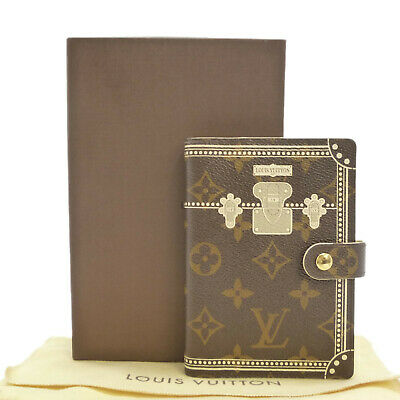 Auth LOUIS VUITTON Agenda PM Malle Blanche Day Planner Cover R20965 #S304052