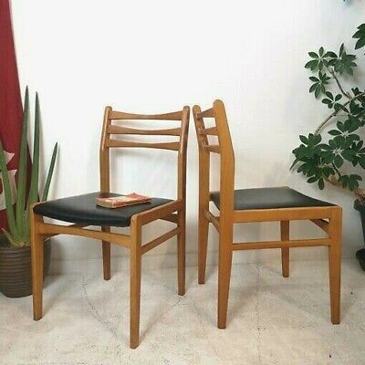 2 Vintage Mid Century Dining Chairs