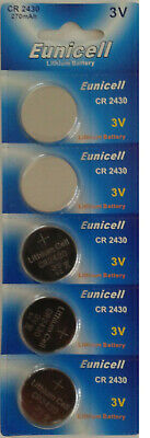 Eunicell  5 Piles Lithium Boutons Plates Cr2430 Cr 2430 - 3V