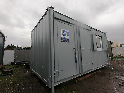 16ft x 9ft ANTIVANDAL SITE CABIN OFFICE PORTABLE BUILDING WITH TOILET 2750 + VAT