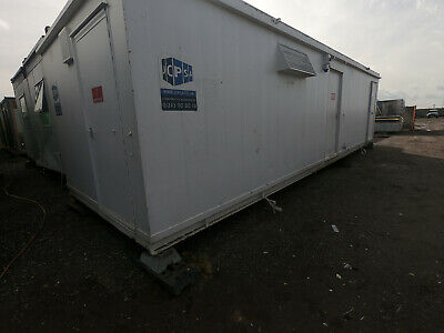 32ft x 10ft PORTABLE TOILET BLOCK 6+1+1 SO 6 MALE AND 1 FEMALE TOILETS  5000+VAT