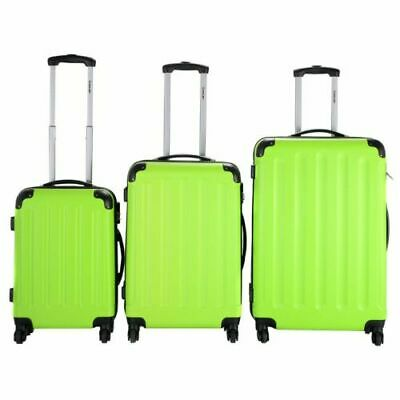 3 Pieces Set Hard Sides Luggage Travel Carry on Bag Trolley Spinner Suitcase