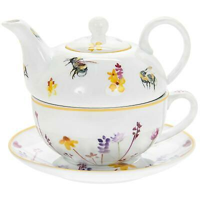 Colourful Busy Bees Fine China Tea For One Cup Mug Teapot Boxed Gift Set