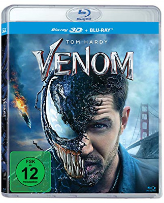 Venom Blu-ray 3D + 2D All Region ABC Euro Release Multi Language Audio Subtitles