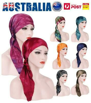 AU! Muslim Hair Loss Head Scarf Hat Women Chemo Hijab Cap Turban Head Wrap Cover