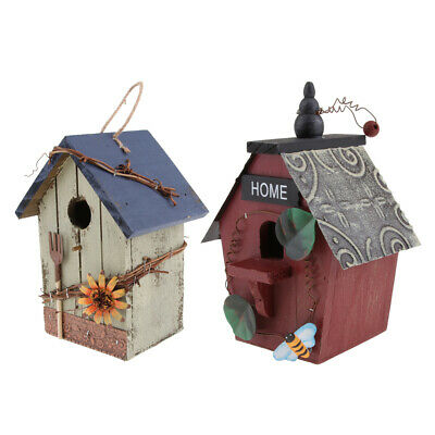 Nk51 Nichoir Nid Cabane Oiseau Bois Couleur Yard, Garden & Outdoor Living Pet Supplies