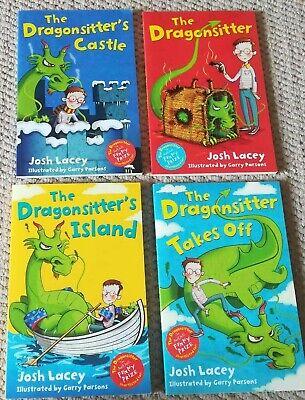 4 BOOKS ❣ THE DRAGONSITTER ❣ Josh Lacey ❣ Like New ❣ RRP  £19.96 Collection Set