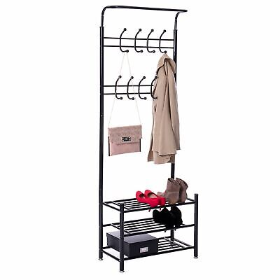 Black Mr IRONSTONE Coat Rack Freestanding Entryway Hall Coat Tree Adjustable 51.2 or 66.9 Height Metal Coat Rack Stand /& Thickened Natural Marble Base Coat Racks with 8 Hooks Easy Assembly