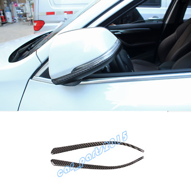 Carbon Fiber Rearview Mirror Cover Trim Strips For BMW X1 F48 16-19 X2 F39 18-19