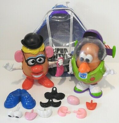 Rare Disney Pixar Toy Story Spud Lightyear Mr Potato Head & Mrs Potato Head