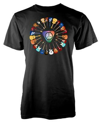 Rainbow Pick Bass Rock Guitar Adult T Shirt