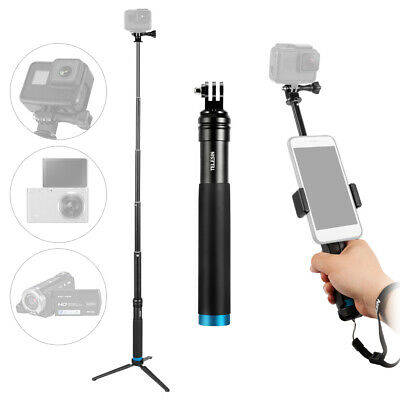 Handheld Extendable Selfie Stick Monopod Alloy Adjustable Pole with Tripod Z1T4