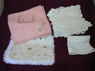 Large lot of antique/vintage table linens (total of 37 pieces)
