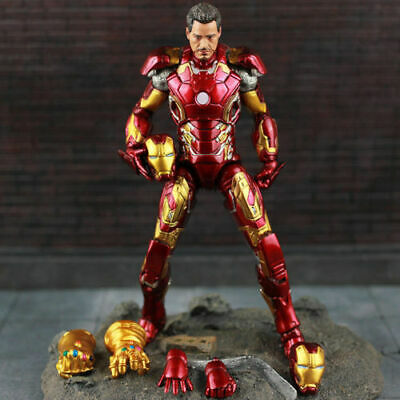 Marvel Avengers Infinity War Iron Man MK 43 Tony Stark Figure Action Toy Hot US!