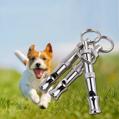 Puppy Pet Dog Whistle Two-tone Ultrasonic Flute Stop Barking Sound Repeller UKHD