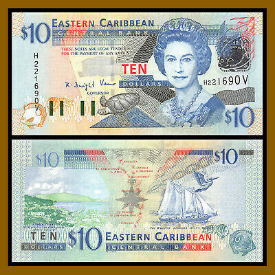 2016 EAST CARIBBEAN STATES 10 DOLLARS P-52b UNC /> QUEEN E II ADMIRALTY BAY