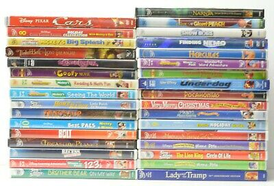 DISNEY Movies DVD lot 33 DVD's Hercules Goofy Cars Narnia Lady and The Tramp