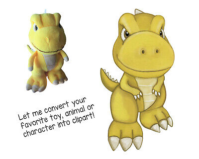 Digital PNG file/clipart from photo. Favorite kids toy/animal/character portrait