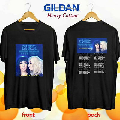 5e49ce60 Limited Cher Here We Go Again north american tour concert 2019 Tee Tshirt  S-5XL