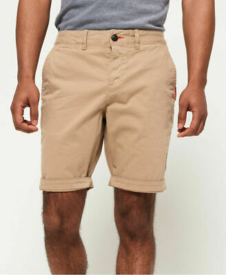 New Mens Superdry International Chino Short Corps Beige
