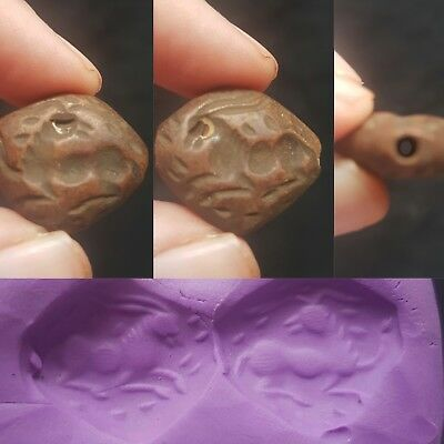 Very ancient old saisianin red agate intaglio bead