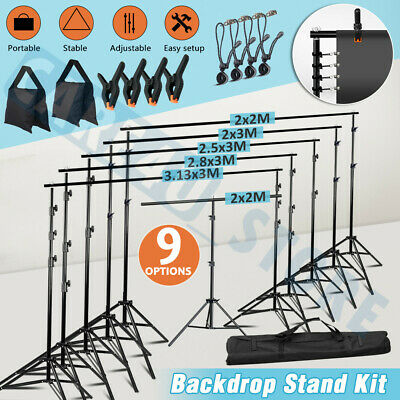 Adjustable Support Heavy Duty Backdrop Stand System Photography Studio UPGRADED+