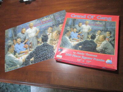 Grand Ol' Gang Andy Thomas 500 Piece Puzzle Republican Presidents Theme