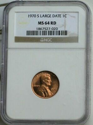 1970-S Large Date, DDO, Double Die, FS-103 (FS-030.1) Lincoln Cent NGC MS64RD